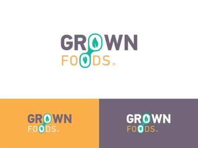 GROWN FOODS childhood health foods grown logo