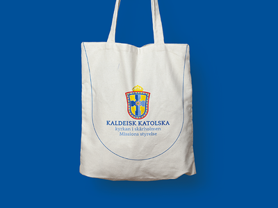 My First Dribbble Shot, The Chaldean Catholic Church stockholm sweden church branding guideline logo
