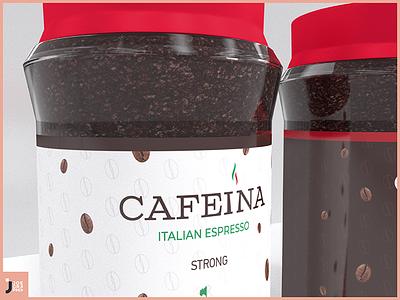 CAFEINA, ITALIAN ESPRESSO 3dmodeling 3dblender italian espresso coffee designart logo creative