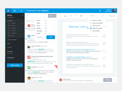 Redesign UI Mention