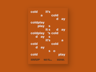 Coldplay Poster music typography coldplay poster