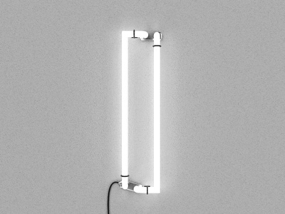 I – Neon wall light c4d render 3d neon