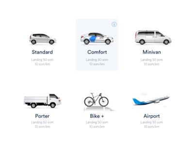 Taxi tariffs icons