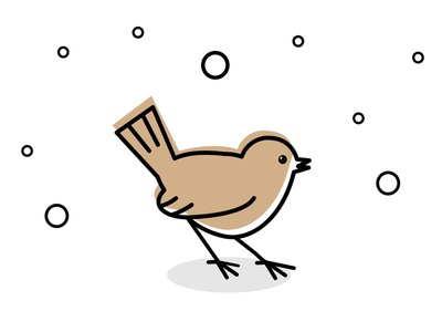 Baby sparrow icon