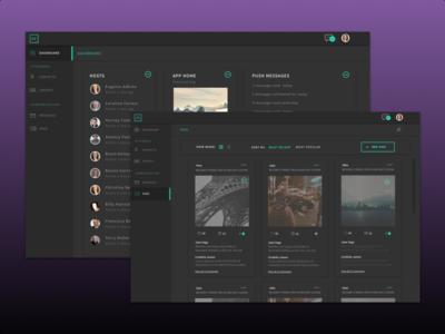 Free sketch file -Dark UI - dashboard design