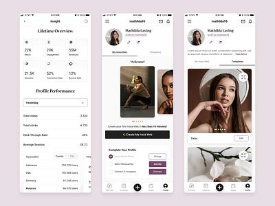 Smoothies App Concept ux ui mobile app