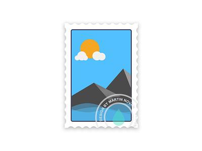 A Stamp daily sketch design