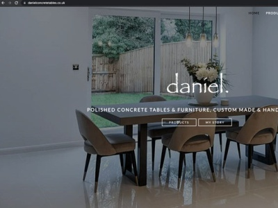 Daniel Polished Concrete Tables   Stockport wordpress ecommerce web design design