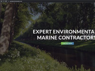 Sands Environmental   Lancaster logo graphic design web design design