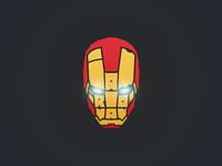Iron man typography