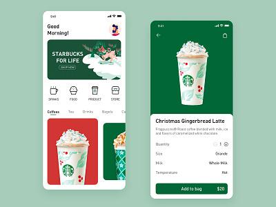 Starbucks color ui design