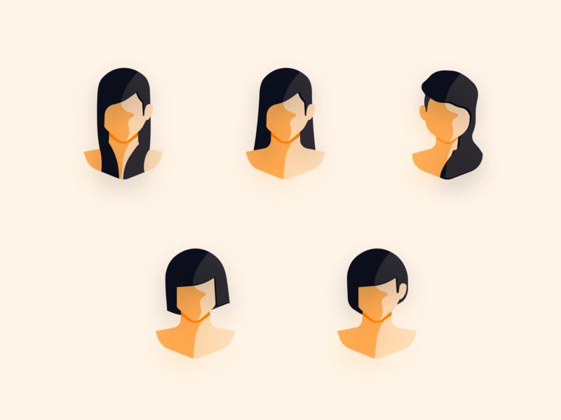 Simple avatar · woman avatar sketch icon