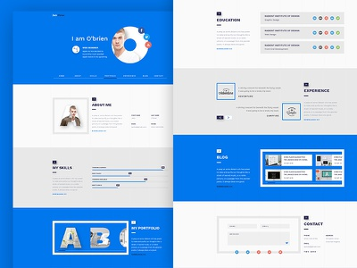 Web Vcard portfolio creative simple line clean vcard web design