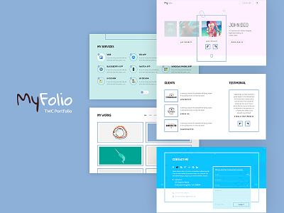 Portfolio ux ui web design portfolio line style creative