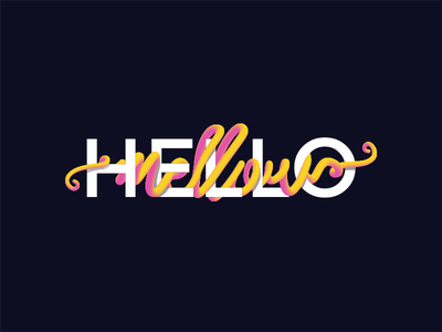 Hello Mellow graphic design typography