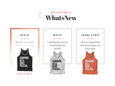 Whats New display section tanks fashion web design
