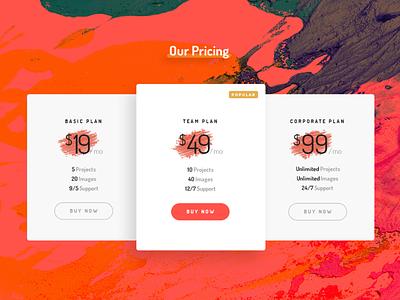 TWC - Pricing Section ui business template artistic website portfolio photoshop creative web design pricing plans pricing plan pricing