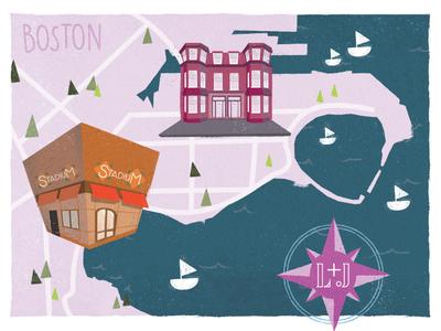 Wedding Map Illustration Pt. 2
