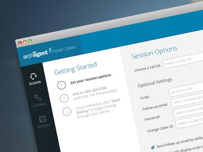Archagent Website Redesign Internal balderdash balderdashy balderdash design internal website panel navigation inputs walkthrough options austin