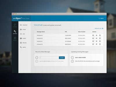 Archagent Website Redesign balderdash balderdashy internal website redesign balderdash design blue gray list