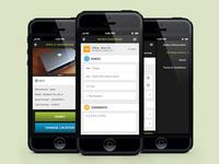 iOffice mobile app mockups