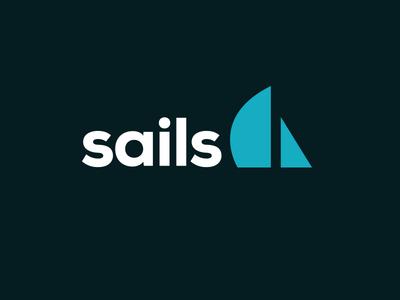 Sails logo balderdash sails logo black dark blue white branding