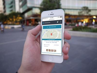 Real Estate Application Mobile balderdash mobile responsive blue notification admin heather white preview