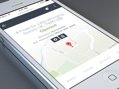 Real Estate Application Mobile 02 balderdash balderdashy responsive mobile admin maps harry potter tabs