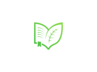 Leaf & Book - Logo
