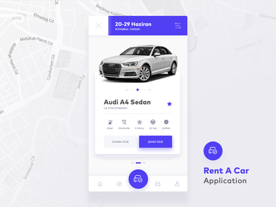 Rent A Car - Car Details Screen booking reservation car details rent a car car ux user experience ui user interface daily ui