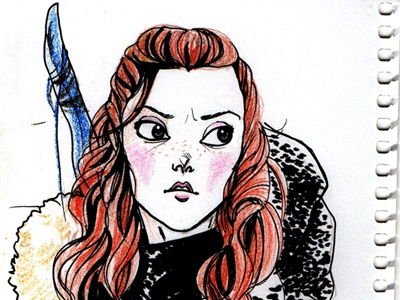 Ygritte sketch ygritte got gameofthrones drawing sketch girl pencil ink comics