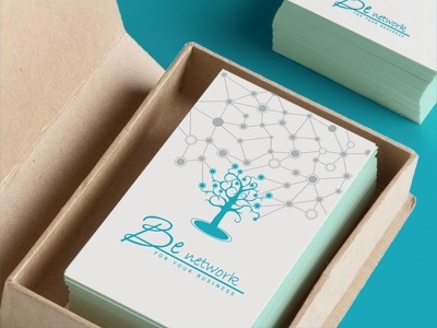 Business Card businesscard tree technology communication sharing
