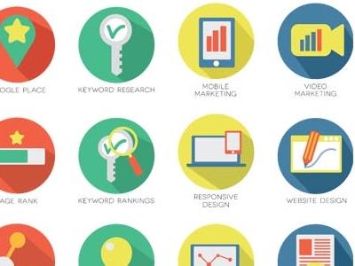 Seo Service Icons seo icons service flat icons marketing webdesign