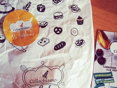 Packaging Celiachiamo Lab bakery food bakery brand packaging bag
