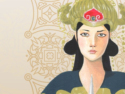 Turandot paint opera turandot chinese asian oriental acrylic