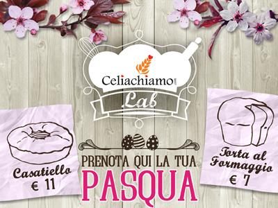 Locandina Pasqua flyer wood. poster flowers celiachia bakery drawing prices easter pasqua