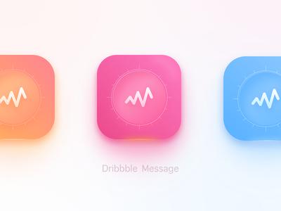 APP ICON message draft dribbble sketch gradient ui design dailyui icon app