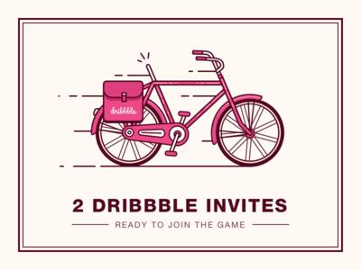 2 Dribbble Invites bike draft invite dribbble