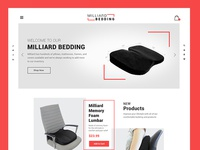 Furniture website landing page