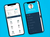 Milk App Homepage+Sidemenu