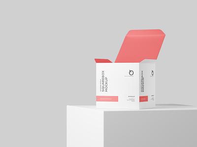 Free Square Box Mockup mock-ups mock-up presentation graphic designs photoshop psd freebie mockups product packaging design mockup box square free