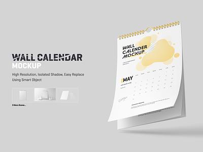 Wall Calendar Mockup 3d graphic mock up presentation design mock-ups mock-up spiral psdmockup mockups mockup calendar wall