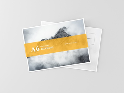 Awesome A6 Flyer / Postcard Mock Up