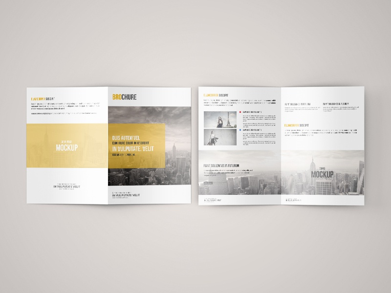 Freebie – A5 Bi Fold Brochure Mock-Up
