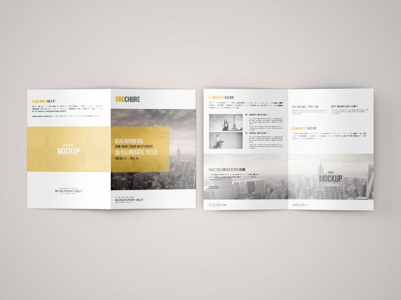 freebie a5 bi fold brochure mock up by toasin studio dribbble