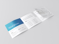 03 Square 4 Fold Brochure Mockup Preview