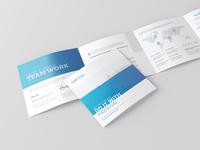 Square 4-Fold Brochure Mock-Up