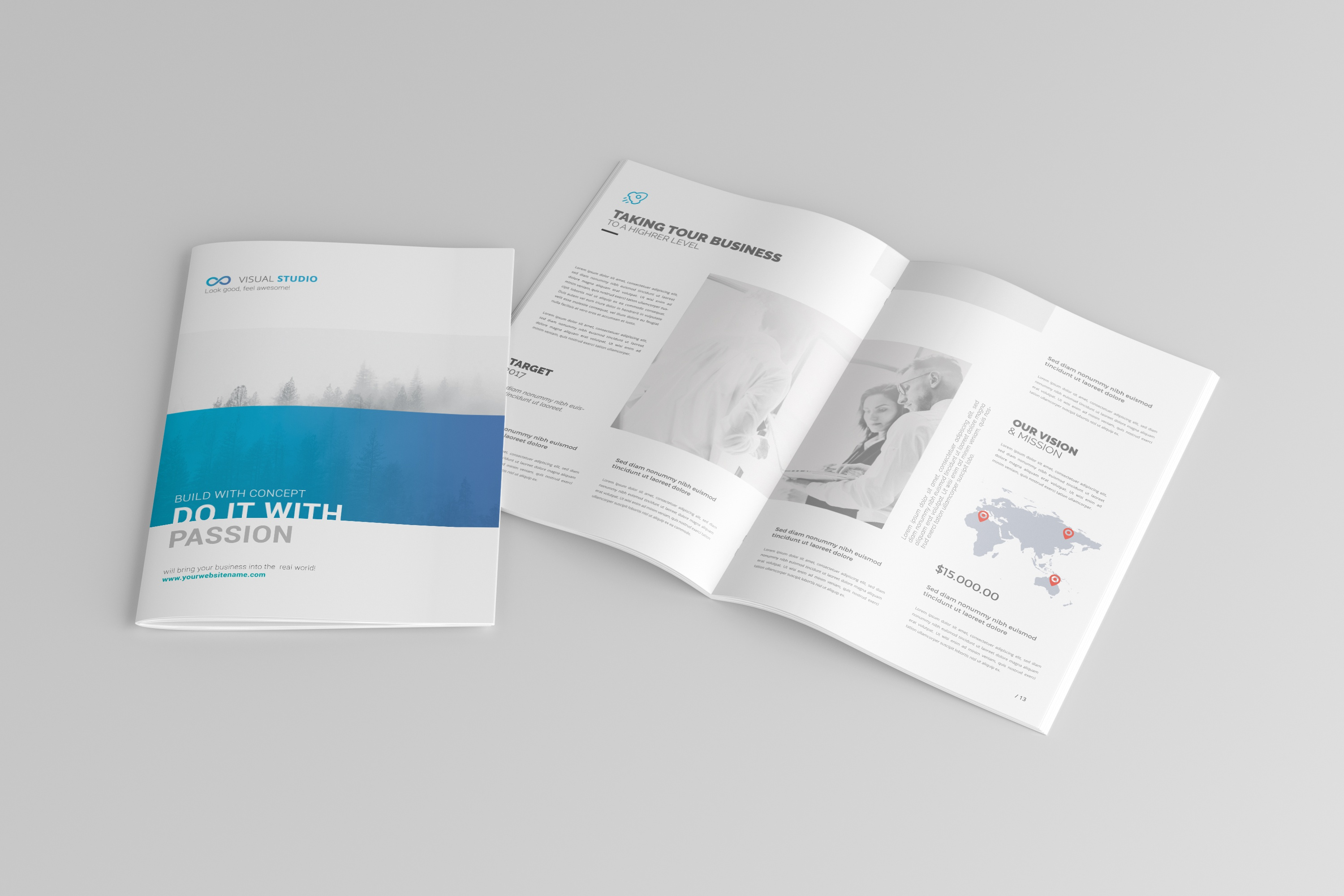 dribbble 03 a4 brochure catalog magazine mockup jpg by toasin studio