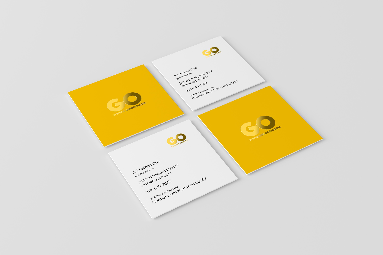 03 square business card mockup