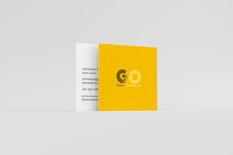 05 square business card mockup
